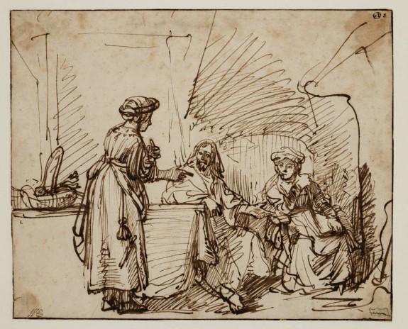 Christus bij Martha en Maria