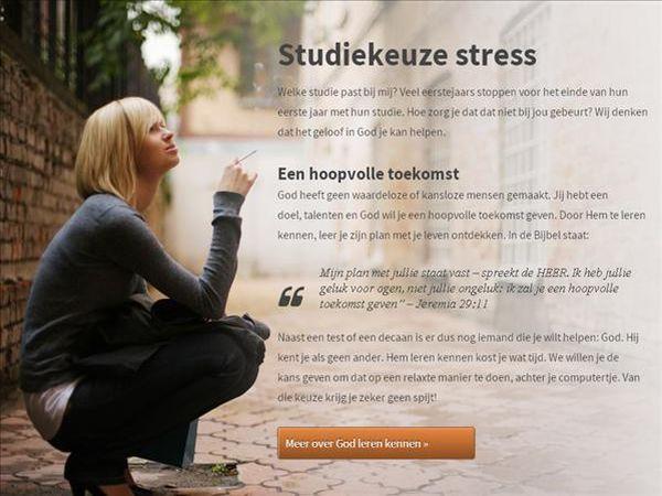 Studiekeuze stress