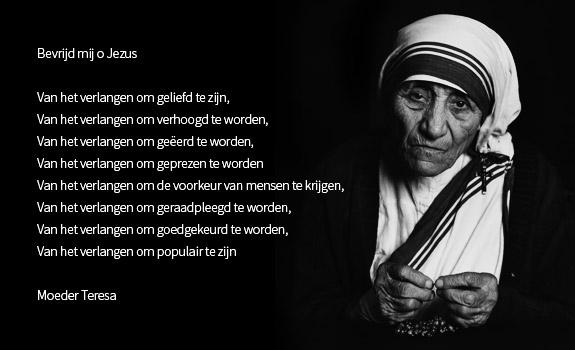 Bevrijd mij, o Jezus (gebed moeder Teresa)