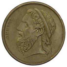 Munt met afbeelding Homerus